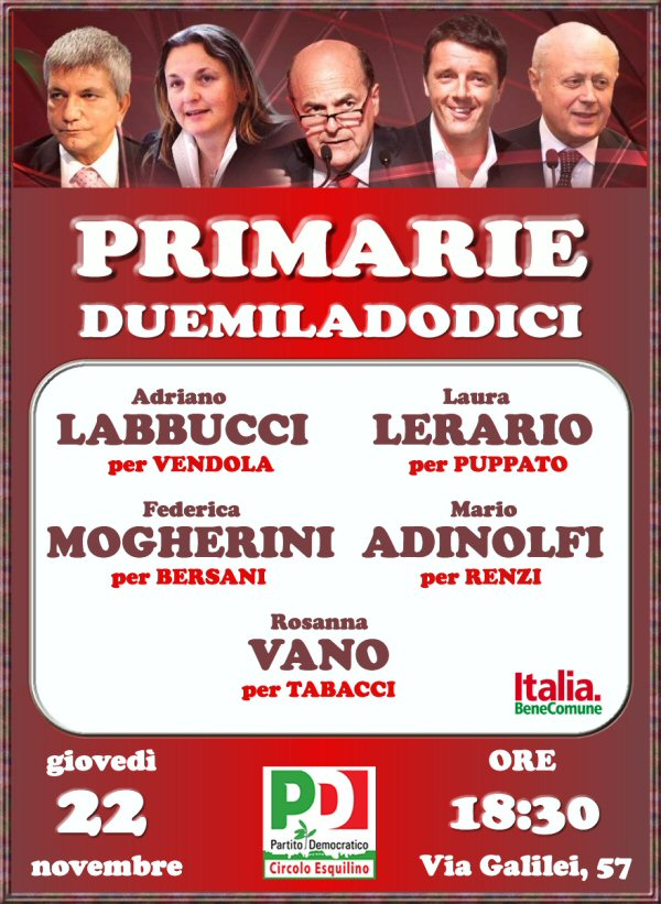 Primarie: confronto all'Esquilino