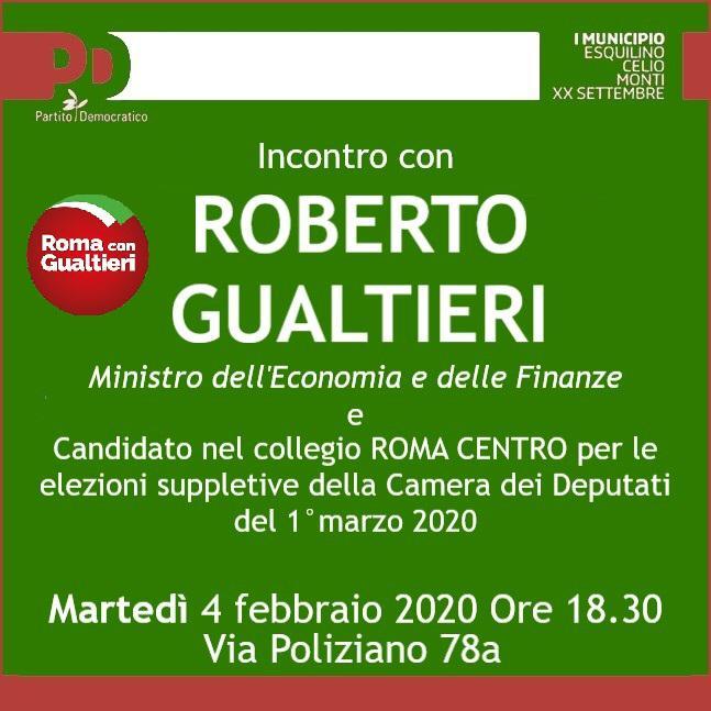 Incontro Gualtieri